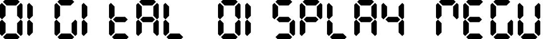Preview image for Digital Display Regular Font