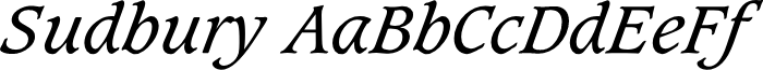 Sudbury Book Italic