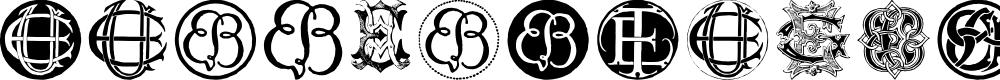 Preview image for Intellecta Monograms Random Samples Twelve Font