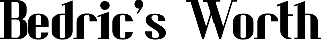 Preview image for Bedric's Worth Font