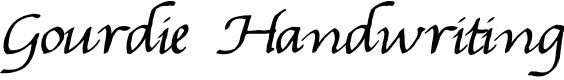 Preview image for Gourdie Handwriting Font