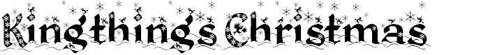 Preview image for Kingthings Christmas  Font