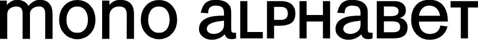Preview image for MonoAlphabet Regular Font