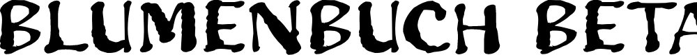 Preview image for Blumenbuch Beta Font