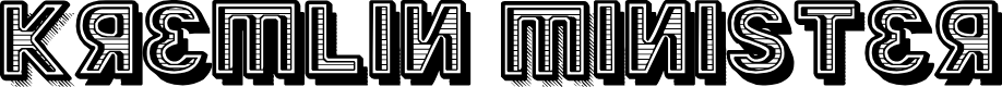 Preview image for Kremlin Minister Black 3D Bold Font