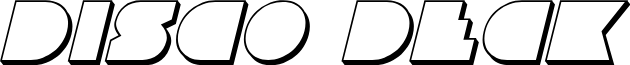 Disco Deck 3D Italic