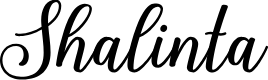 Preview image for Shalinta Font