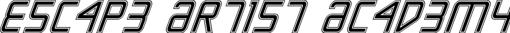 Escape Artist Academy Italic