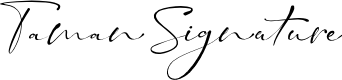 Preview image for Taman Signature Font