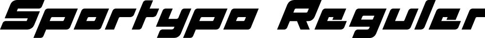 Preview image for Sportypo Reguler Font