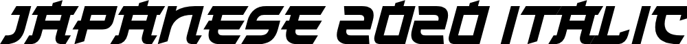 Japanese 2020 Italic