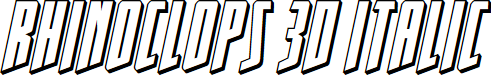 Preview image for Rhinoclops 3D Italic
