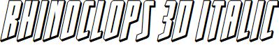 Rhinoclops 3D Italic