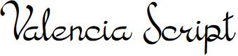 Preview image for Valencia Script Font