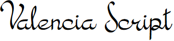 Preview image for Valencia Script Font