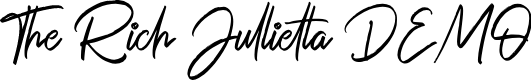 Preview image for The Rich Jullietta DEMO Font
