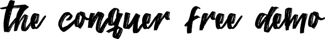 Preview image for TheConquerFreeDemo Font
