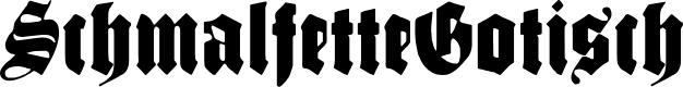 Preview image for SchmalfetteGotisch Font