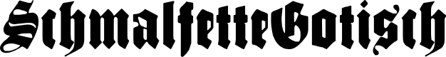 Preview image for SchmalfetteGotisch Font
