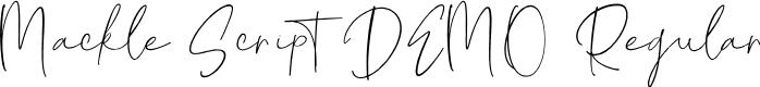Preview image for Mackle Script DEMO Regular Font