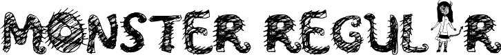 Preview image for Monster Regular Font