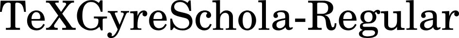 Preview image for TeXGyreSchola-Regular Font