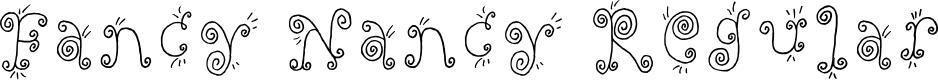 Preview image for Fancy Nancy Regular Font