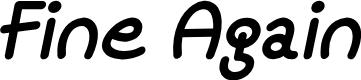 Preview image for Mf Fine Again Italic