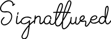 Preview image for Signattured Font
