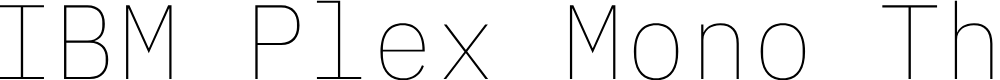 Preview image for IBM Plex Mono Thin
