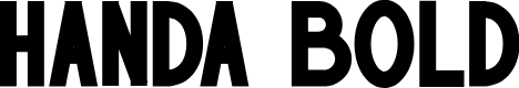 Preview image for HANDA Bold Font