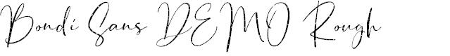 Preview image for Bondi Sans DEMO Rough Font