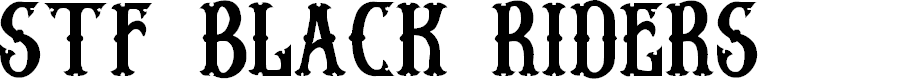 Preview image for Stf BLACK RIDERS  Font