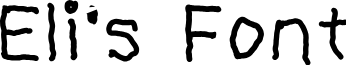 Eli's Font