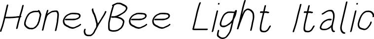Preview image for HoneyBee Light Italic