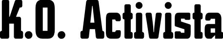 Preview image for K.O.Activista-Bold Font