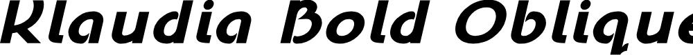 Preview image for Klaudia Bold Oblique