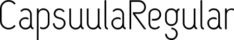 Preview image for CapsuulaRegular Font