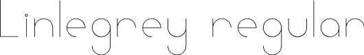Preview image for Linlegrey regular Font