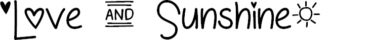 Preview image for Love and Sunshine Font