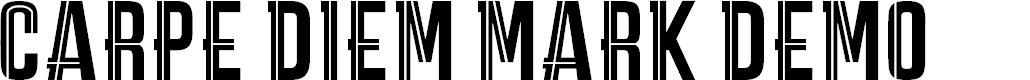Preview image for CARPE DIEM MARK DEMO Font