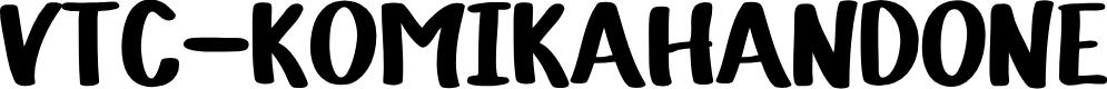 Preview image for VTC-KomikaHandOne Font