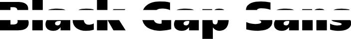 Preview image for BlackGapSans Font