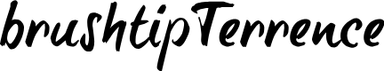 Preview image for brush-tipTerrence Font