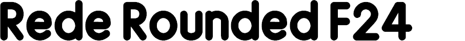 Preview image for Rede Rounded F24 Font