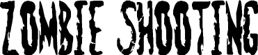 Preview image for Zombie Shooting Font