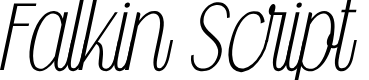 Preview image for Falkin Script PERSONAL Font