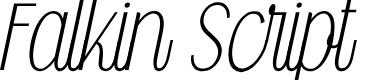 Preview image for Falkin Script PERSONAL Font