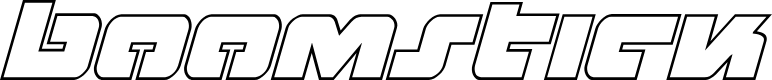 Preview image for Boomstick Outline Italic