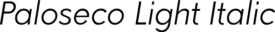 Paloseco Light Italic